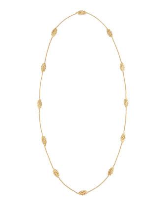 Sealeaf Collection 18k Gold Long Necklace
