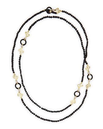 Sealeaf Collection 18k Onyx & Diamond Necklace