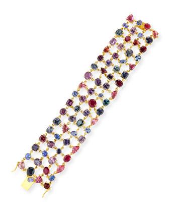 Multi-Stone 18k Gold Bracelet