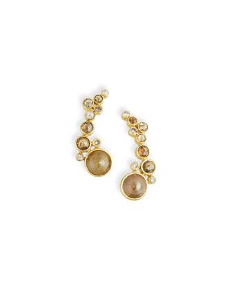 18k Rose-Cut Natural Diamond Earrings