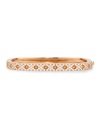 Pois Moi Rose Gold Single-Row Diamond Bangle
