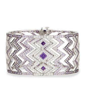 Lady Stardust Amethyst, Sapphire, and Diamond Bracelet