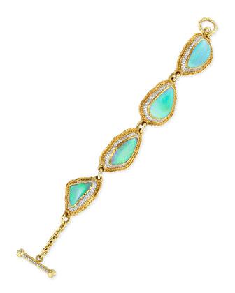 Australian Opal and Diamond Link Bracelet