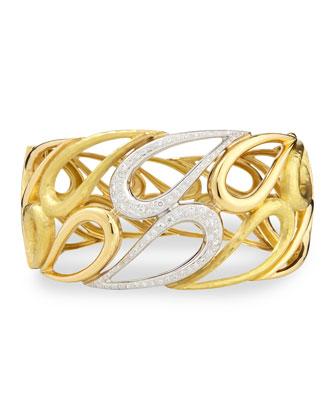 Onda 18k Gold and Diamond Cuff Bracelet
