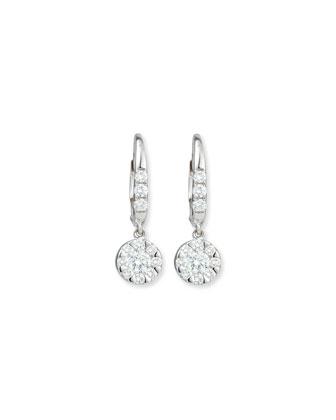 Flower Diamond Dangle Earrings