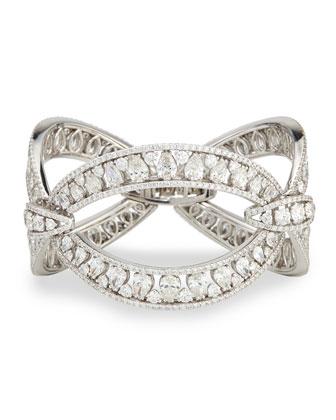 18k White Gold Marquise Link Diamond Bracelet