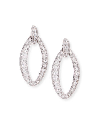 18k White Gold Marquise Diamond Drop Earrings