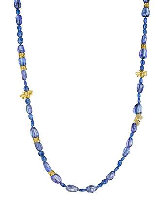 Wonderland Beaded Tanzanite & Diamond Necklace