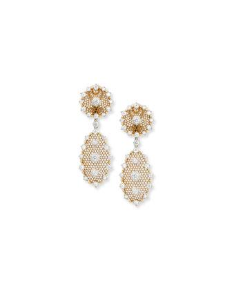 Tulle Diamond Detachable Drop Earrings
