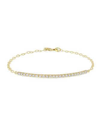 Moderne 18k Diamond Bar Bracelet