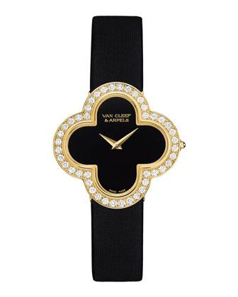 Alhambra Sertie Yellow Gold Watch, Medium