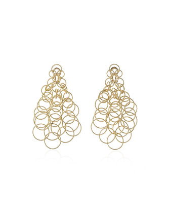 18k Gold Hawaii Earrings, 2.5