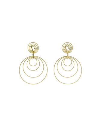 18k Gold Hawaii Double-Drop Earrings