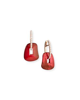 Diamond Hoop Puzzle Earrings with Interchangeable Drops