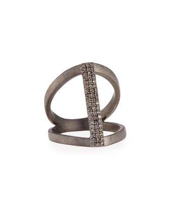 Vertical Diamond Bar Ring, Size 8