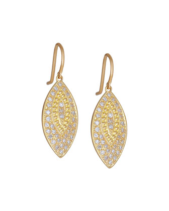Pave Diamond Bohemian Marquis Earrings