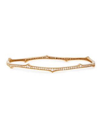 Ivy Thorn 18k Rose Gold Diamond Bangle