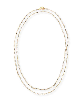 18k Gold and Pyrite Chain Necklace, 36