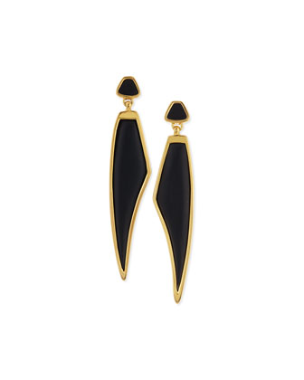 Himalayan Headdress Earrings with Black Horn