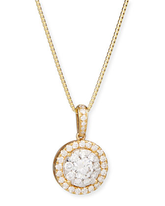 Bouquet 18k Yellow Gold Diamond Pendant Necklace