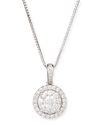 Bouquet 18k White Gold Diamond Pendant Necklace