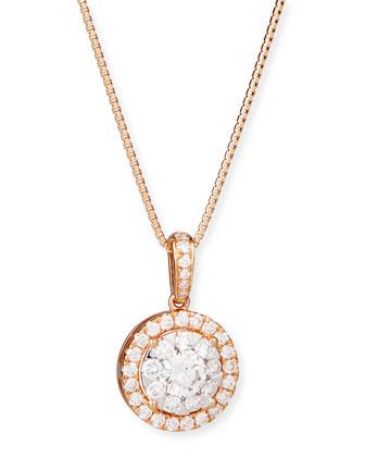 Bouquet 18k Rose Gold Diamond Pendant Necklace