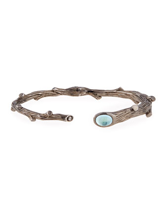 Twig Bracelet with Diamond and Blue Topaz