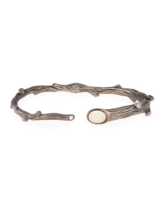 Twig Bracelet with Diamond and Moonstone