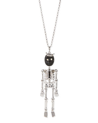 Skeledeo Black Lava Diamond Pendant Necklace