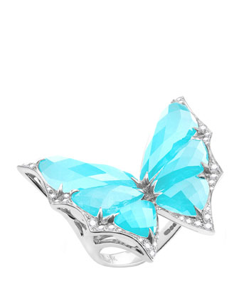 Fly By Night Small Crystal Haze Ring, Size 7