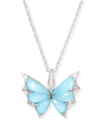 Fly By Night Crystal Haze Pendant Necklace