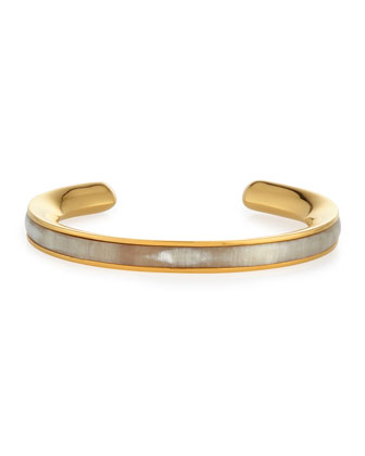 Signature Skinny Bangle with Natural Horn