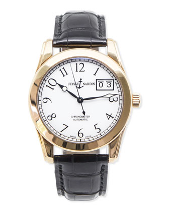 Classic Ulysse Nardin Men's Chronometer Gold Watch