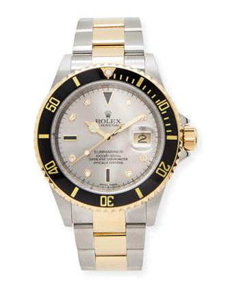 Classic Rolex Men's Submariner Serti Dial Watch