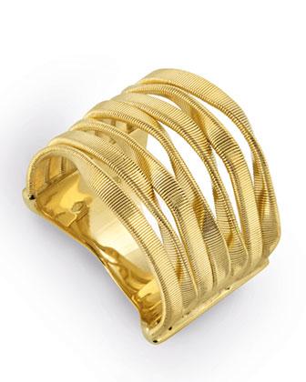 Marrakech Supreme 18k Seven-Strand Ring, Size 7