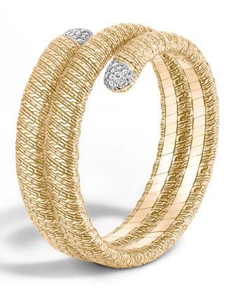 Classic Chain 18k Double Coil Diamond Bracelet