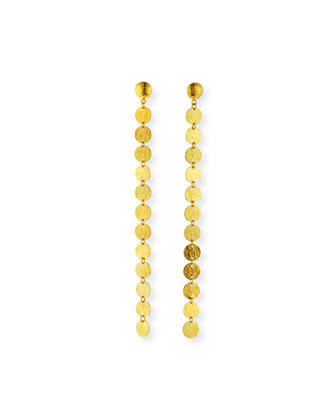 Lush 24k Gold Single Drop Earrings