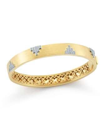 Empire Motif Diamond Bangle