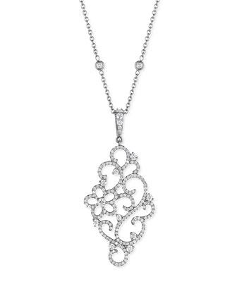 Pavé Diamond Garland Pendant Necklace