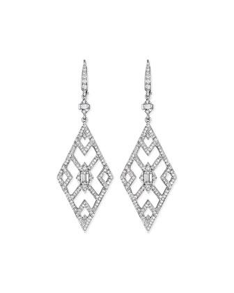 Diamond Deco Cutout Earrings