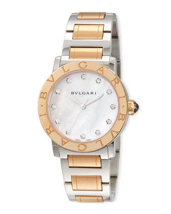 33mm Bvlgari Bvlgari Watch with Diamonds