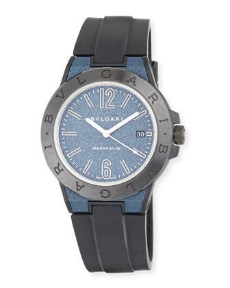 41mm Ceramic Diagono Magnesium Watch, Blue/Black