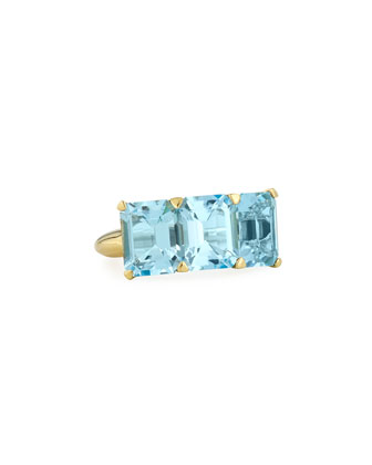Gossip 18K Yellow Gold Blue Topaz Ring