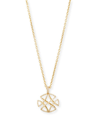 Freedom Pavé Diamond Pendant Necklace, 30
