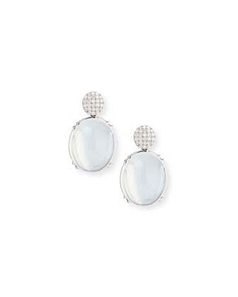 Rock-N-Roll Pavé Diamond & Moon Quartz Earrings