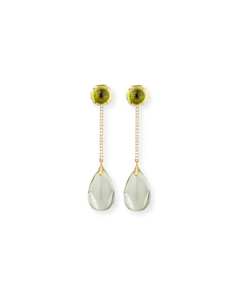 Naughty 18K Gold Prasiolite Drop Earrings