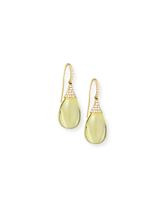 Naughty 18K Gold Lemon Quartz Drop Earrings