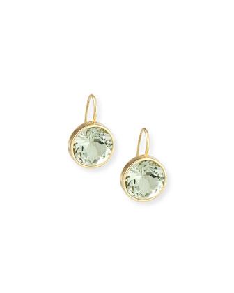 Gossip 18K Gold Prasiolite Round Drop Earrings
