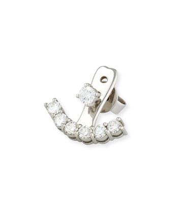 18K White Gold Diamond Jacket Earring