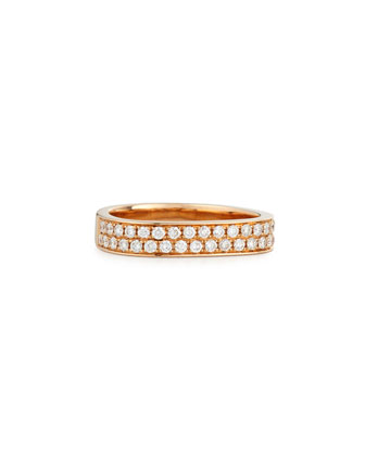 18K Rose Gold Pavé Diamond Band Ring